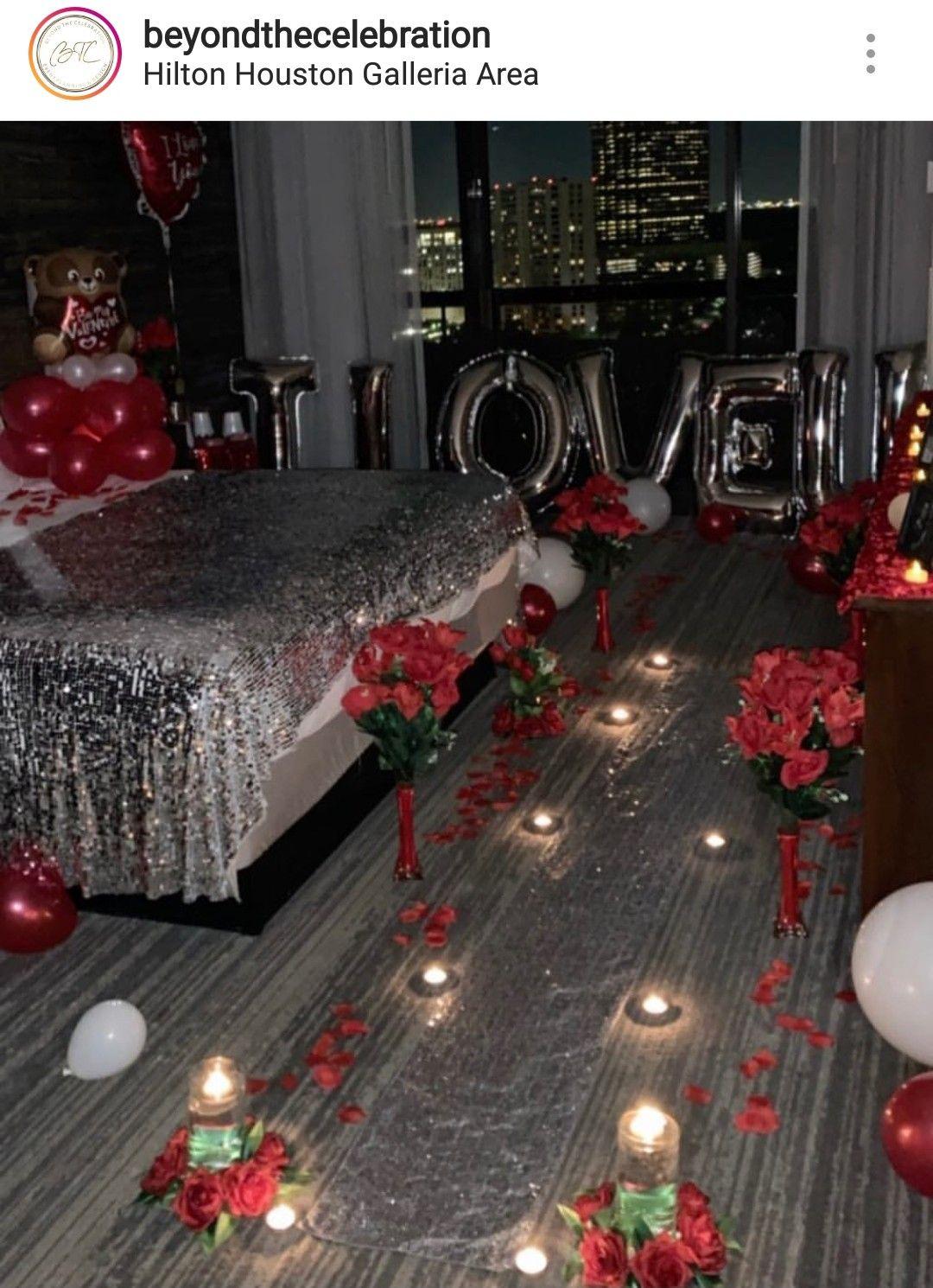 Romantic Hotel Room Ideas: Valentine's Day Hotel Room Set-up