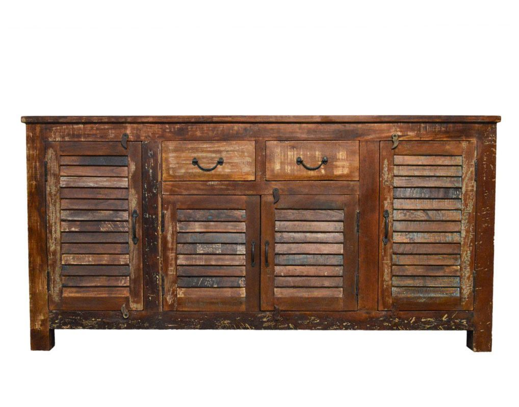 Amazing Reclaimed Industrial Sideboard Buffet Table Storage With Home Interior And Landscaping Transignezvosmurscom