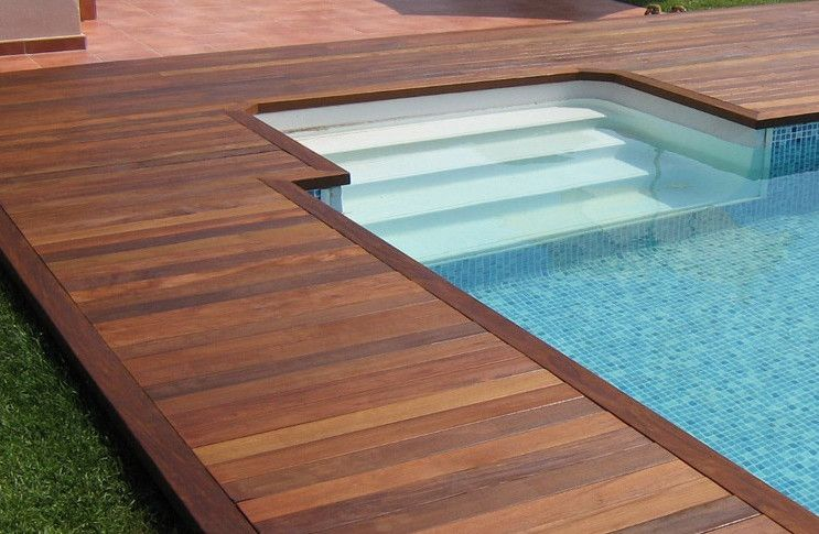 Inground Pool Deck Designs Inground Pool Landscaping Backyard Pool Landscaping Pool Decks