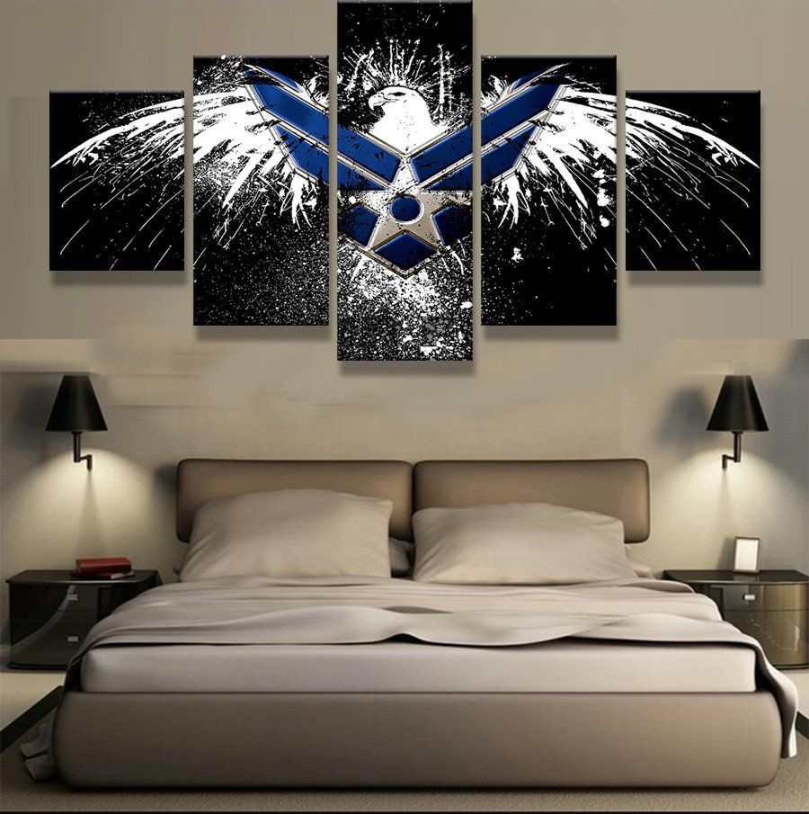 piece canvas printed eagle logo posters painting home decor for