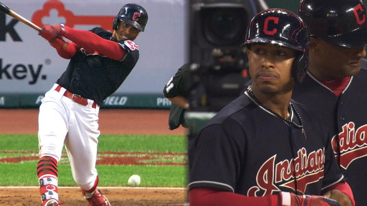 f017a1626 (Video) Cleveland Indians Francisco Lindor racks up four singles against  the Twins