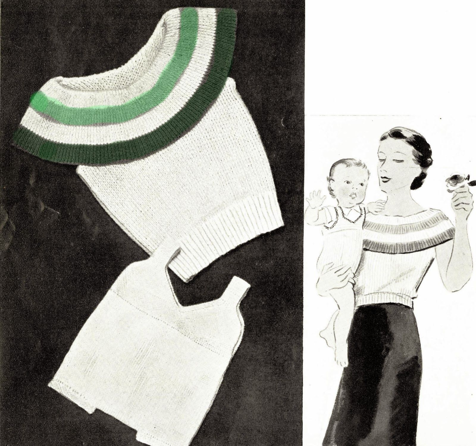 free vintage knitting patterns 1930s vogue knitting magazine art ...