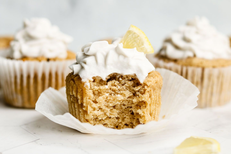 Easy Vegan Lemon Cupcakes Gluten Free Okonomi Kitchen Recipe Lemon Cupcake Recipe Cupcake Calories Cookies Recipes Chocolate Chip
