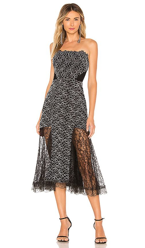 ce503290fc479 J Crew Tinsel Lace Dress Beautiful black lace strapless dress with metallic  threads woven into the lace. Corset top with boning for su…