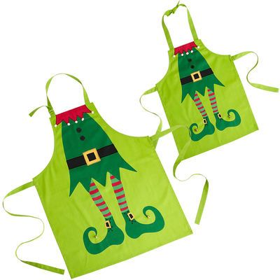 Oh how fun it would be for Lexi and I to wear these while baking our Christmas goodies for neighbors and friends :) Elf aprons from Pier1