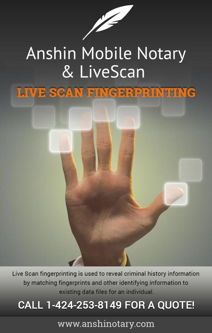 Live Scan Near Me | Live Fingerprint Scan | Live scan
