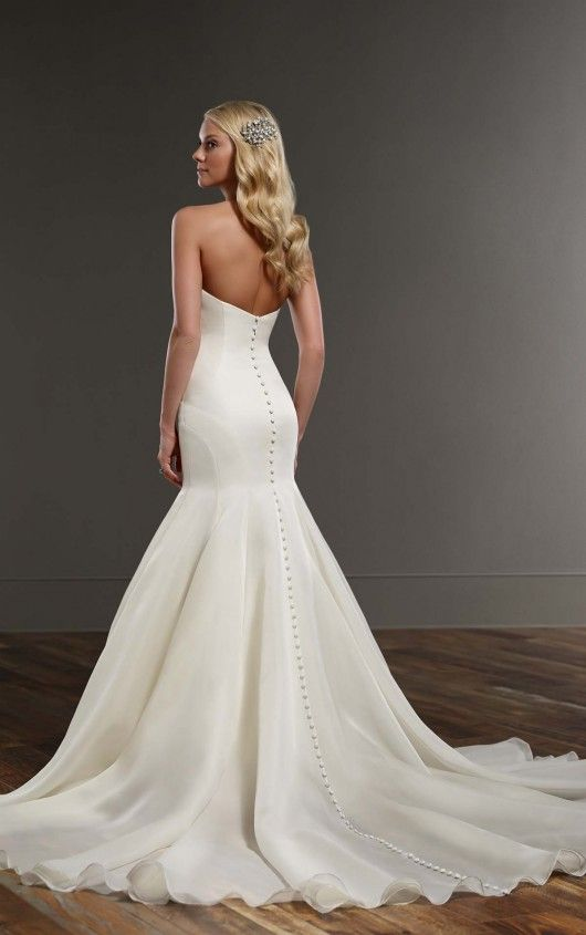 Wedding Dresses   Organza wedding gowns, Silk organza and Chapel train