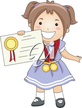 Iclipart Clip Art Illustration Of A Kid Holding A