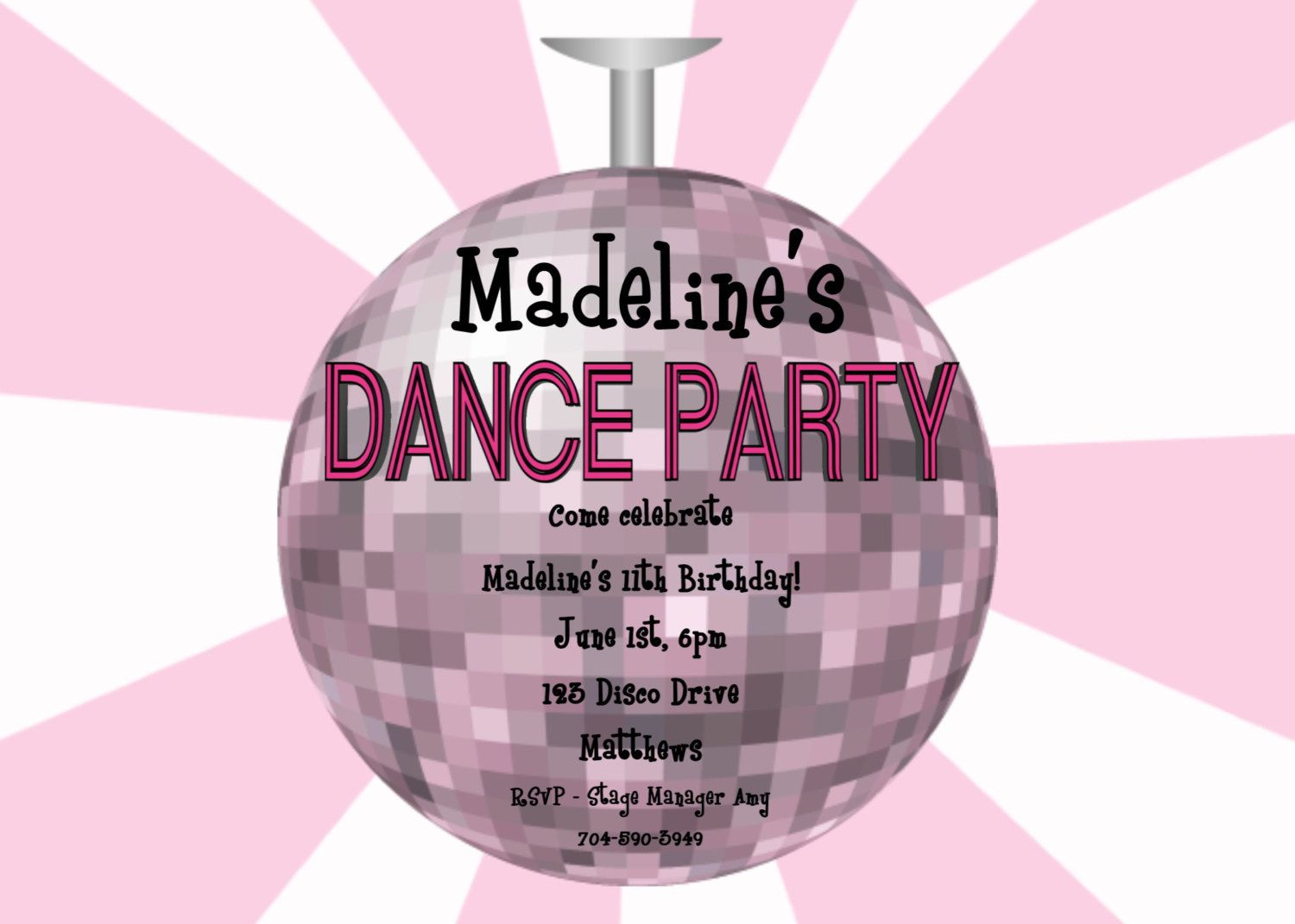 17 Best images about Invites – Disco Party Invitations Free