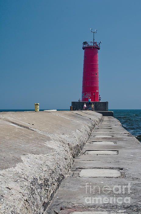 Sheboygan Breakwater Lighthouse Sheboygan Lighthouse Wisconsin Vacation