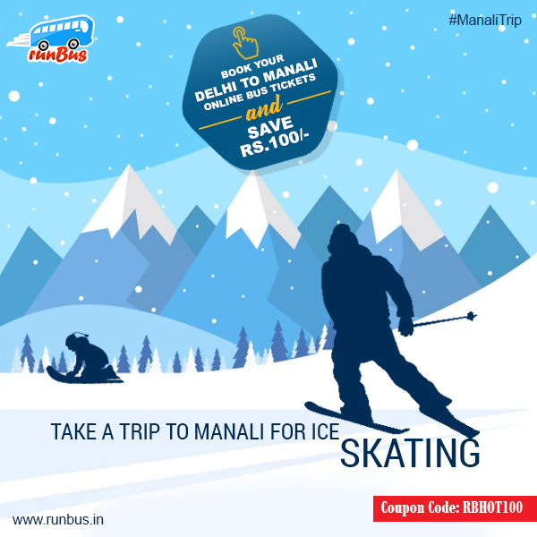 Take A #Trip To Manali For #IceSkating !! Book #Delhi To