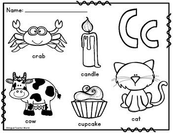 Dual Language Alphabet Coloring Sheets for Gomez and Gomez