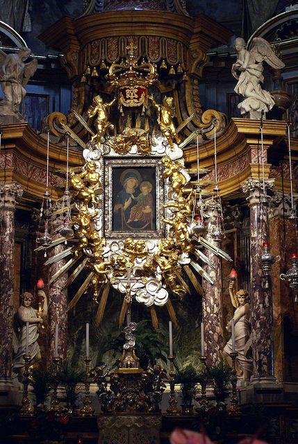 Torino, Piazza della Consolata, Santuario di Maria Consolatrice, La Consolata am Hauptaltar (La Consolata at the main altar)