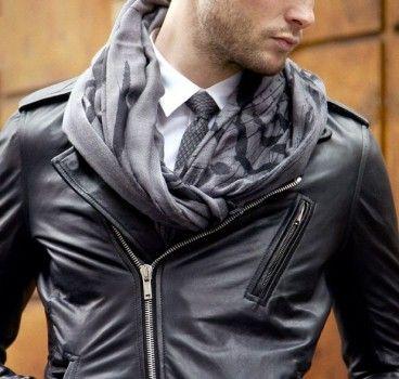 valeur formidable guetter Bons prix blouson-cuir-cravate-echarpe | Fashion en 2019 | Mode homme ...