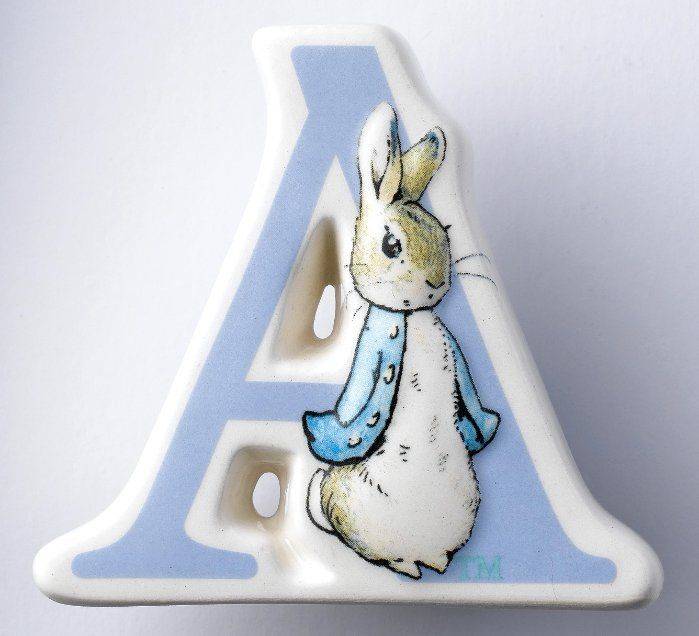 Beatrix Potter Alphabet Letters A Z 039 Baby Nursery Gifts Ceramic