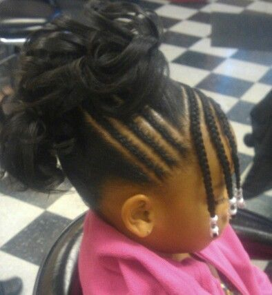 Tremendous Cute Might Change To Puffs Instead Of Curled Ponytails For Short Hairstyles For Black Women Fulllsitofus
