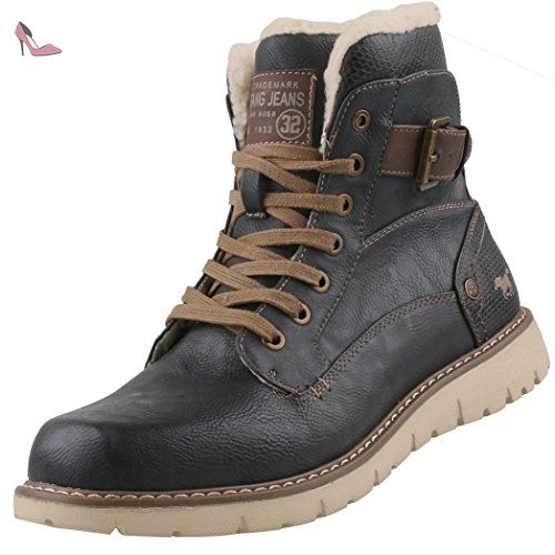 44 Pour Homme Bottes Anthracite Mustang Chaussures Gris xaHgq8xwS