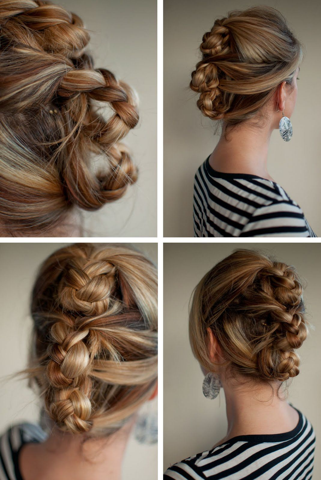 Plaited Roll Hairstyle Collage Jpg 1069 1600 Hair Styles Hair Romance Roll Hairstyle