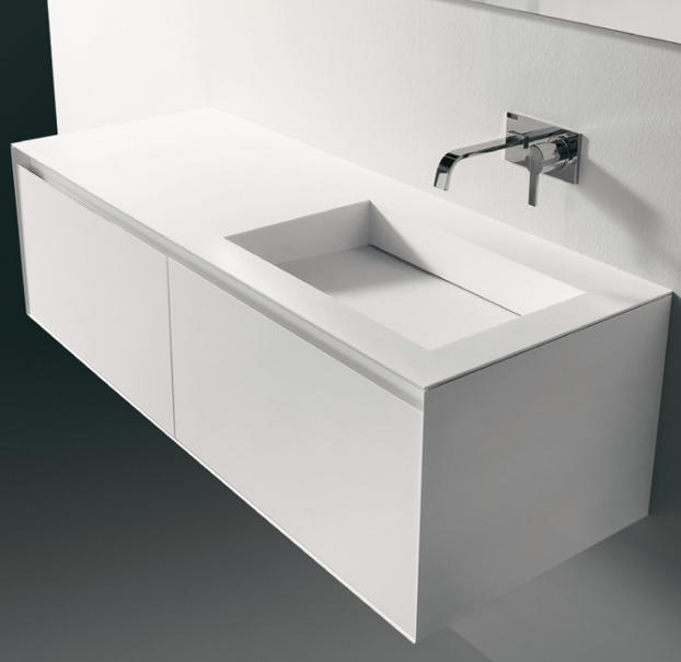 Lavabo bagno bianco minimal design  idee bagno  Pinterest  Sinks, Vanities and Apartments