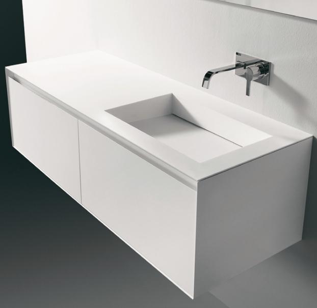 Lavabo bagno bianco minimal design idee bagno bathroom bathroom furniture e bathroom cabinets - Armadietti da bagno ...
