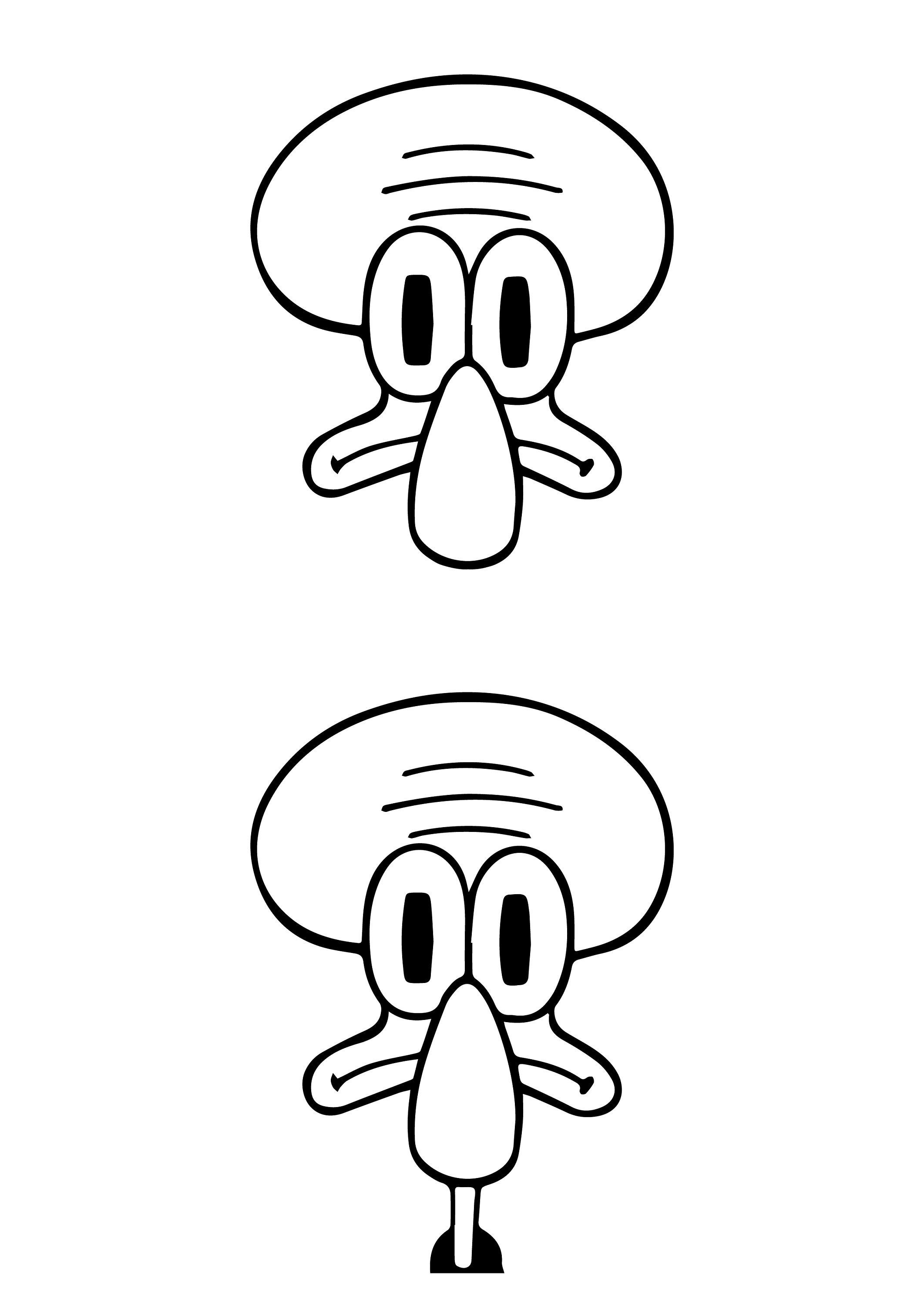 Squidward SVG Spongebob Squarepants SVG vector artwork