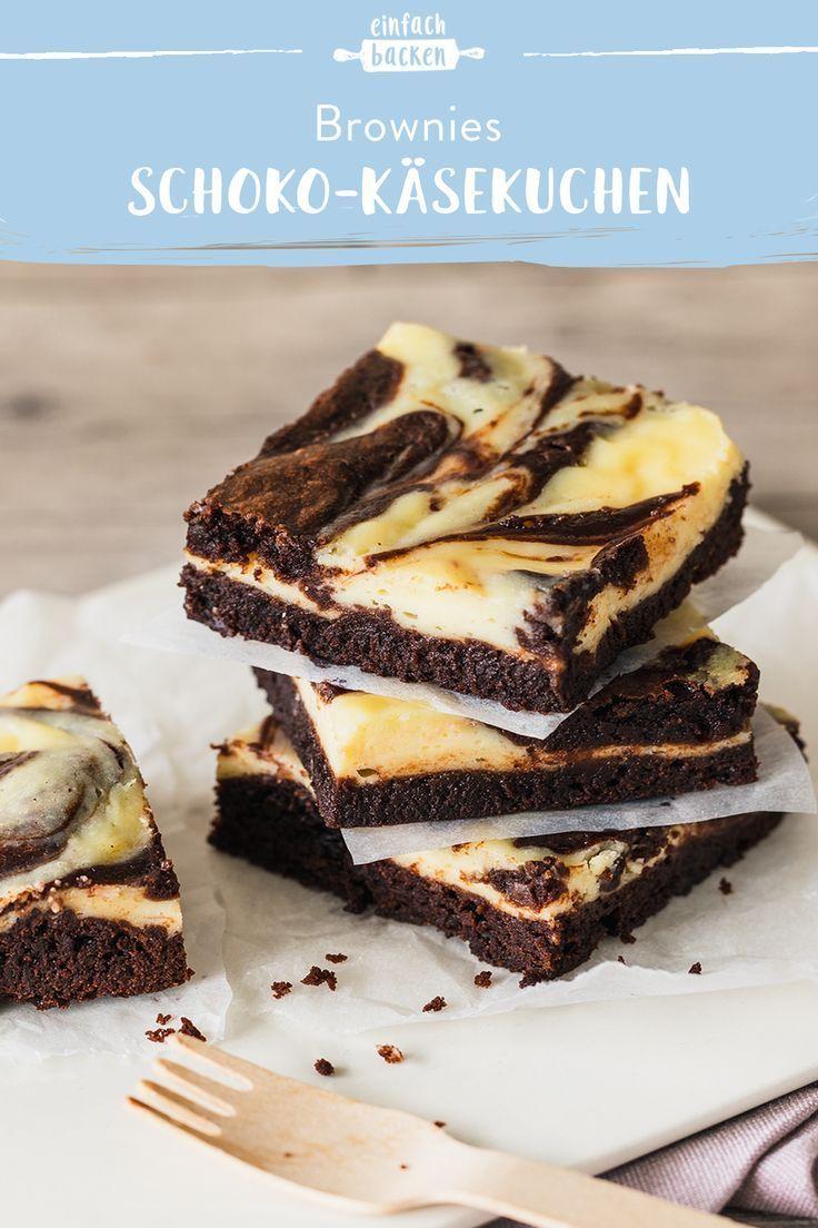 Bei uns findest du das beste Rezept für die schokoladigsten Cheesecake-Brownies mit cremigem Frischkäse-Swirl. Himmlisch lecker und ganz einfach selbst gemacht. #cheesecakebrownies #schokocheesecake #schokokäsekuchenbrownies #einfachbacken