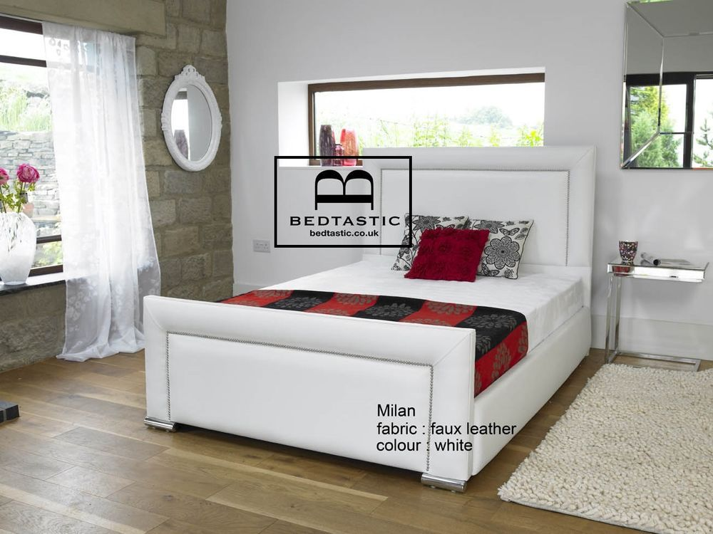 Milan Upholstered Bed Frame Storage 3 Single 4 6 Double 5 King