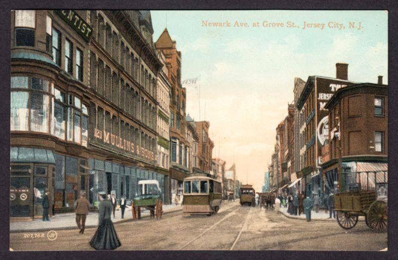 Vintage Postcard Of Jersey City Jersey City Vacation Spots City