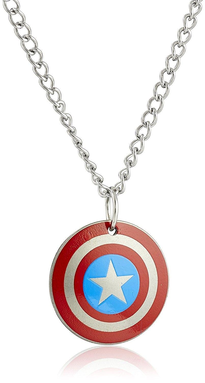 single strand nylon little boys necklace kids white and blue kids superhero jewelry captain american necklace superhero party