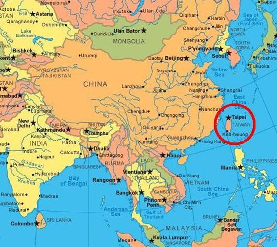Map of taiwan know the world pinterest taiwan map of taiwan gumiabroncs Image collections