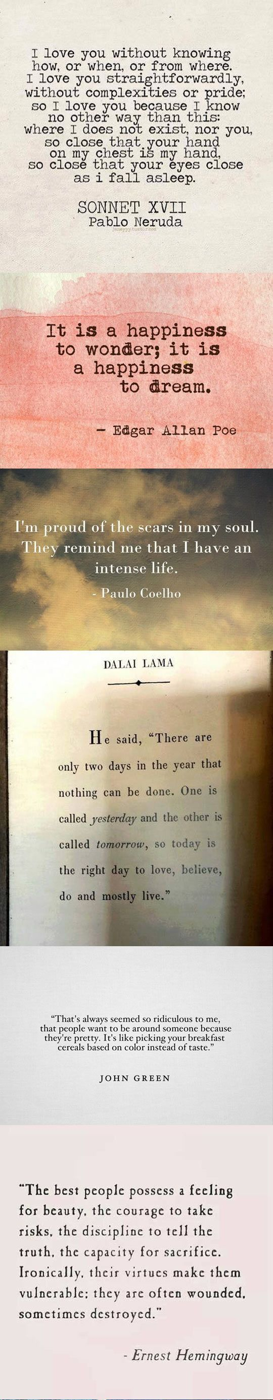 Some beautiful quotes to get through the day… Ilham