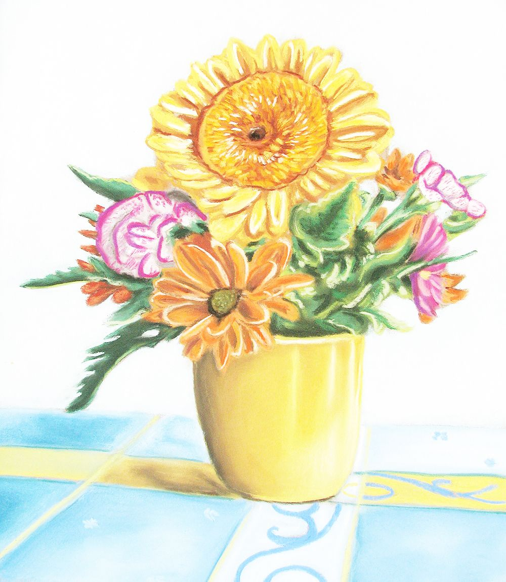 Beautiful Flower Painting By Dayna Ganzel Art Pinterest