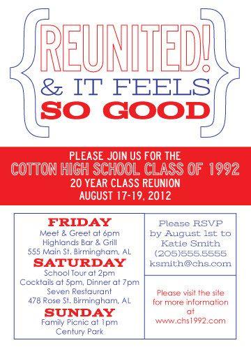 Class Reunion Invitations On Pinterest Family Reunion