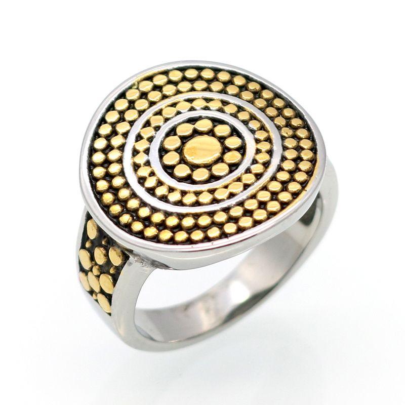 Fashion Round Cut Noir Spinelle /& White Topaz Gemstone Silver Ring Taille 6 7 8 9