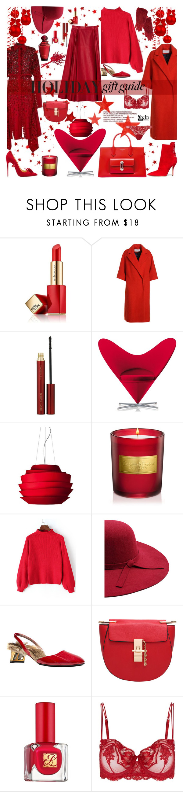 """""""Belive in the magic of the season"""" by naki14 ❤ liked on Polyvore featuring Estée Lauder, Proenza Schouler, Kevyn Aucoin, Vitra, Foscarini, Gucci and La Perla"""