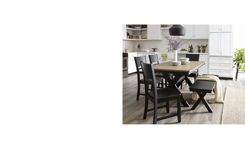 Elegant Archer Dining Furniture, 6 Pc. Set (Dining Table, 4 Side Chairs