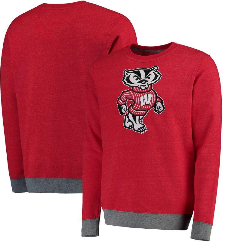 Wisconsin Badgers Fanatics Branded Focus Fleece Sweatshirt - Red