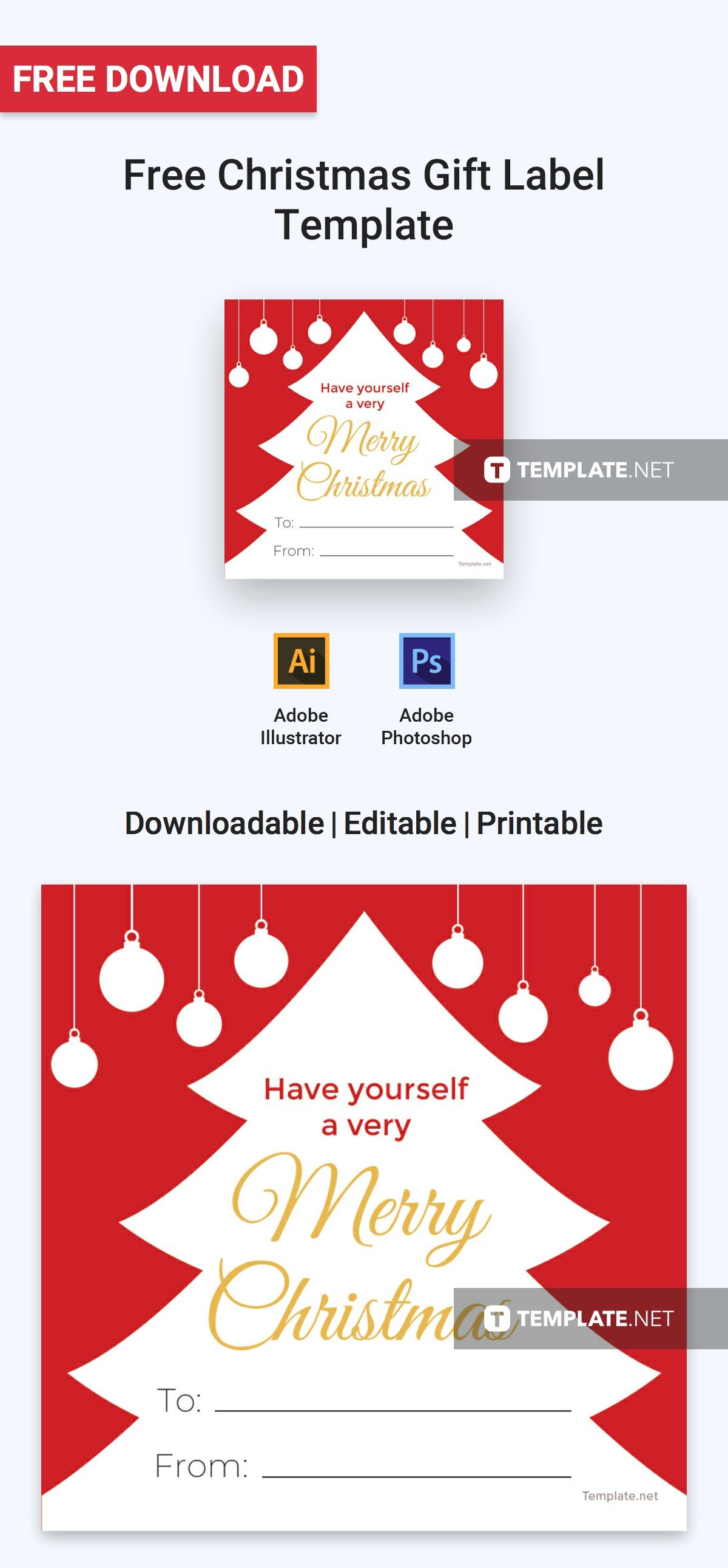 A Label Template That Is Perfect For The Holiday Season Download This For Free And Craft Gift Label Template Free Christmas Gift Labels Gift Labels Christmas