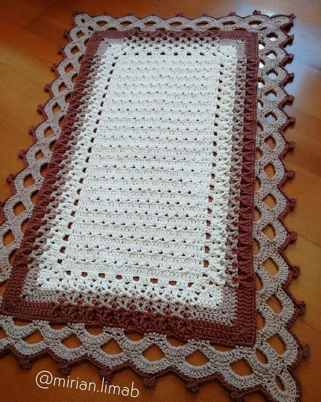 Pin de joelma guedes en Pontos de crochê | Pinterest | Tapetes ...