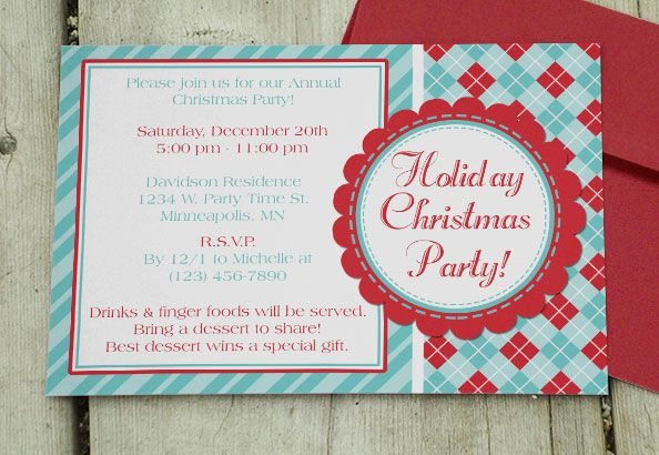 Holiday Christmas Party Invite - Download  Edit Template Party