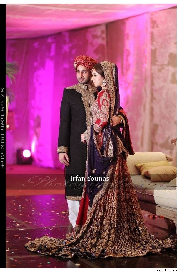 Pakistani Bride And Groom ♡ ❤ ♡ Pakistani Wedding Dress ...