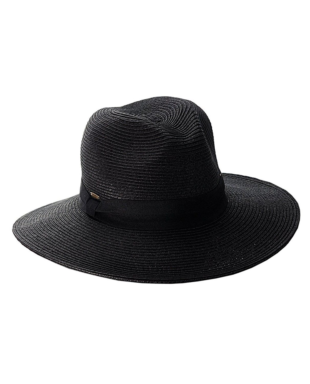 Lightweight Solid Color Band Braided Panama Fedora Sun Hat Black Co11wwyhfb1 Sun Hats Color Bands Hats