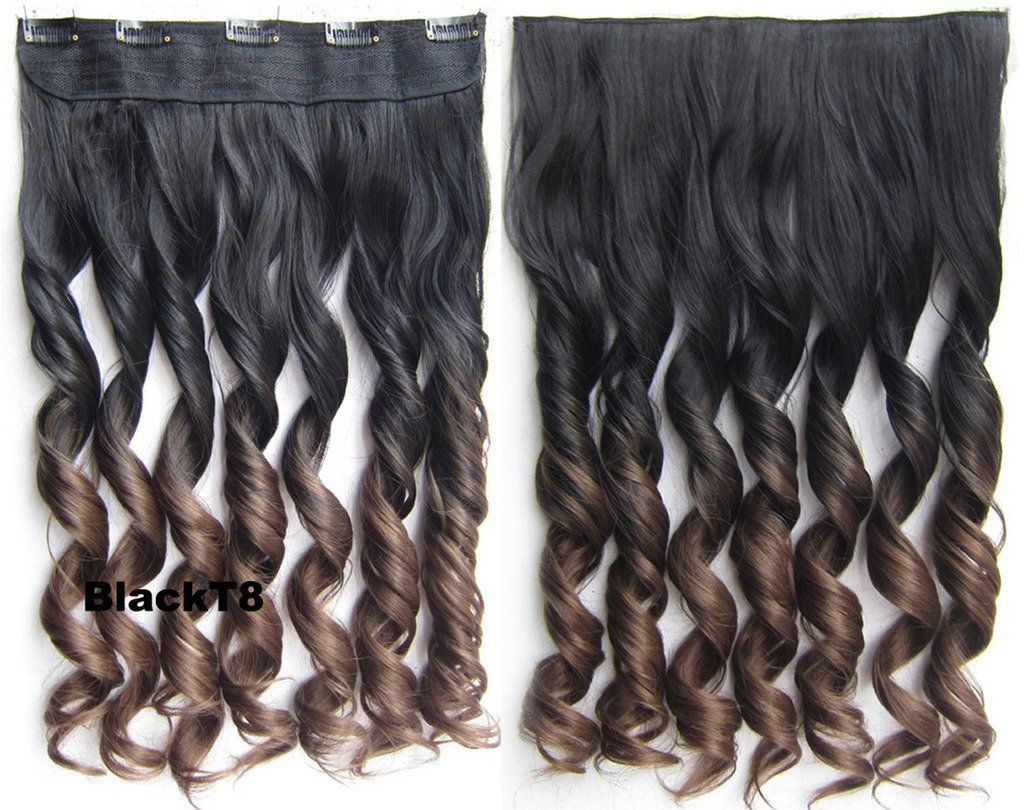 60cm Clip In Hair Extensions Full Head One Piece Hair Extensions