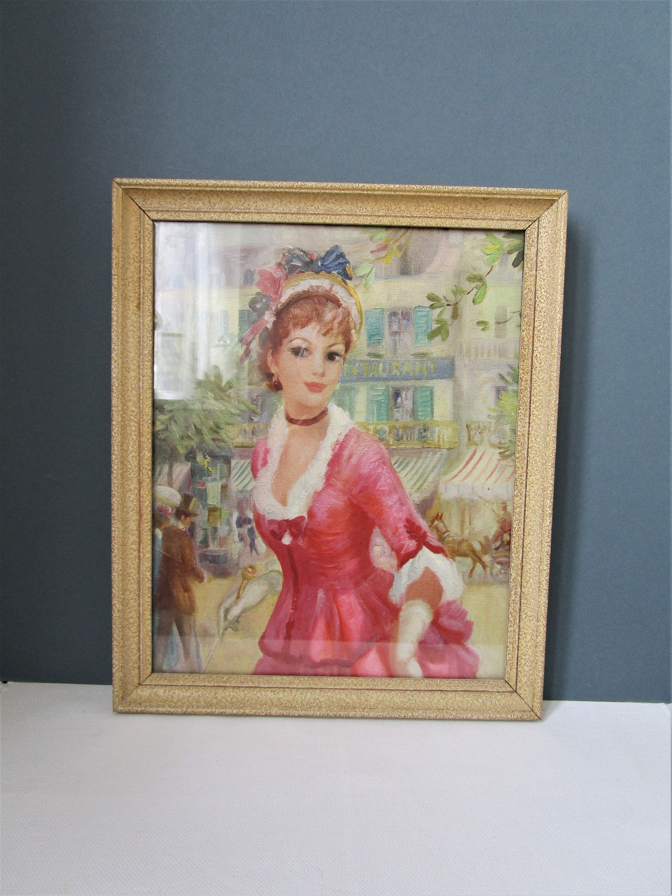 Mid Century Portrait of Woman Made of Wood 1960/'s Wood Tones