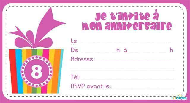Inspirant Texte Pour Invitation Anniversaire 7 Ans Ou