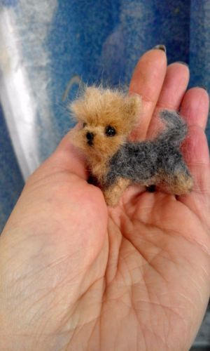 OOAK Needle Felted Miniature Yorkshire terrier puppy dog  962d4f3c53c