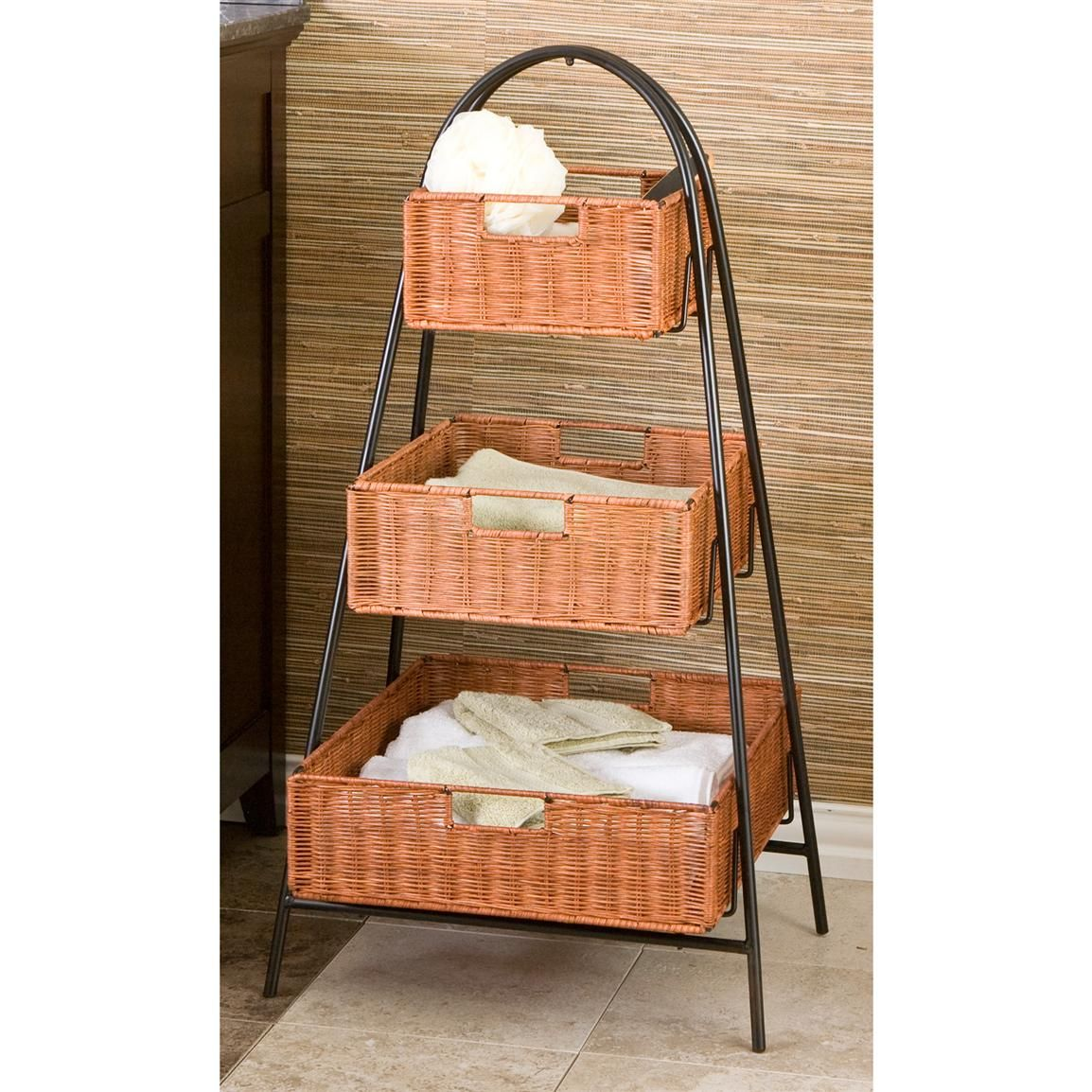 3 Tier Basket Stand With Images 3 Tier Basket Stand Tiered