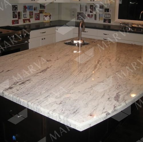 Exceptional Ambrosia White Granite With White Cabinets Especially Modest Granite White Granite White Granite Slabs White Granite Countertops