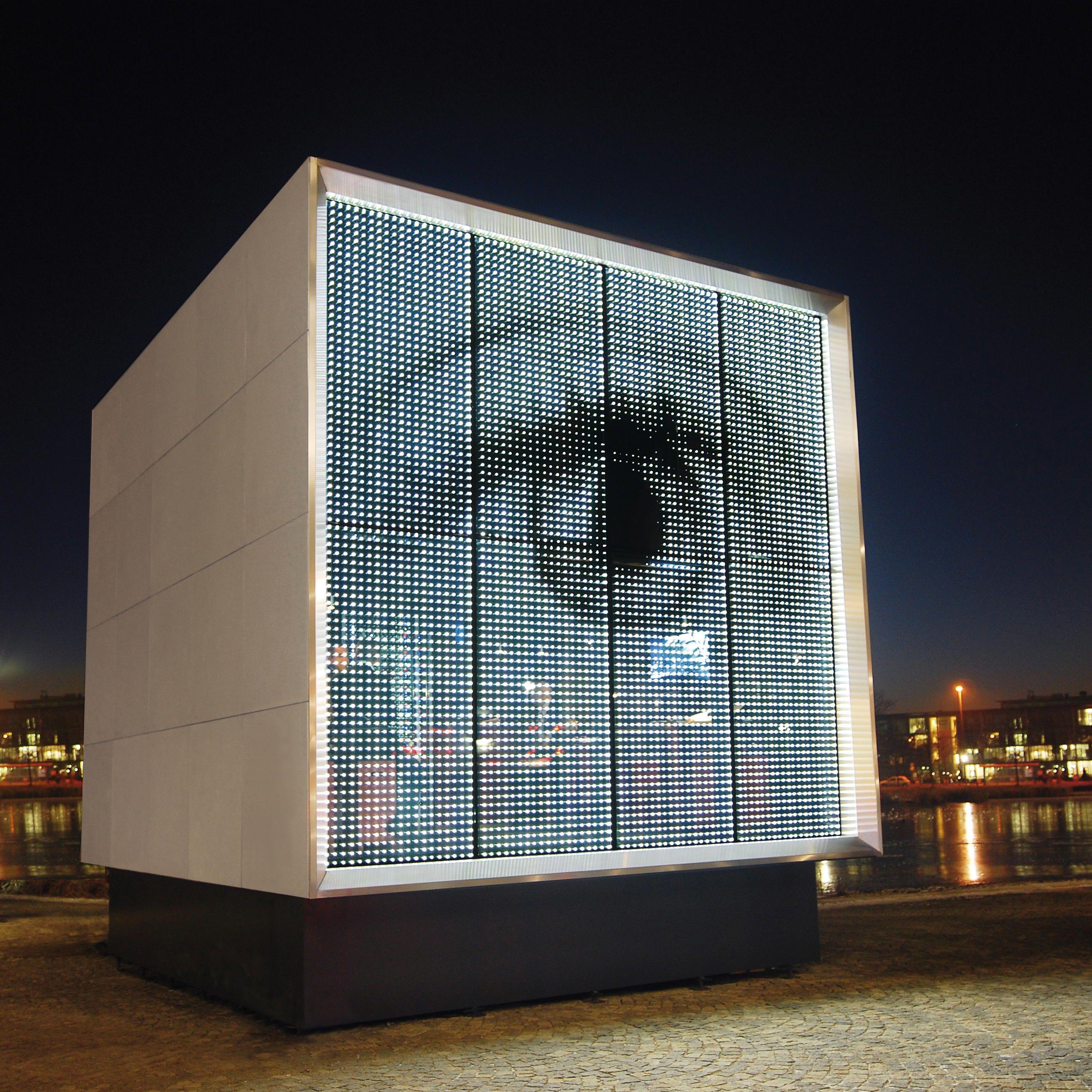 Glas Platz Gmbh Amp Co Kg Powerglass 174 Media Facade Cube Follow On Instagram