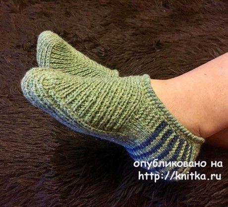 тапочки спицами работа ольги ярославской вязание и схемы вязания